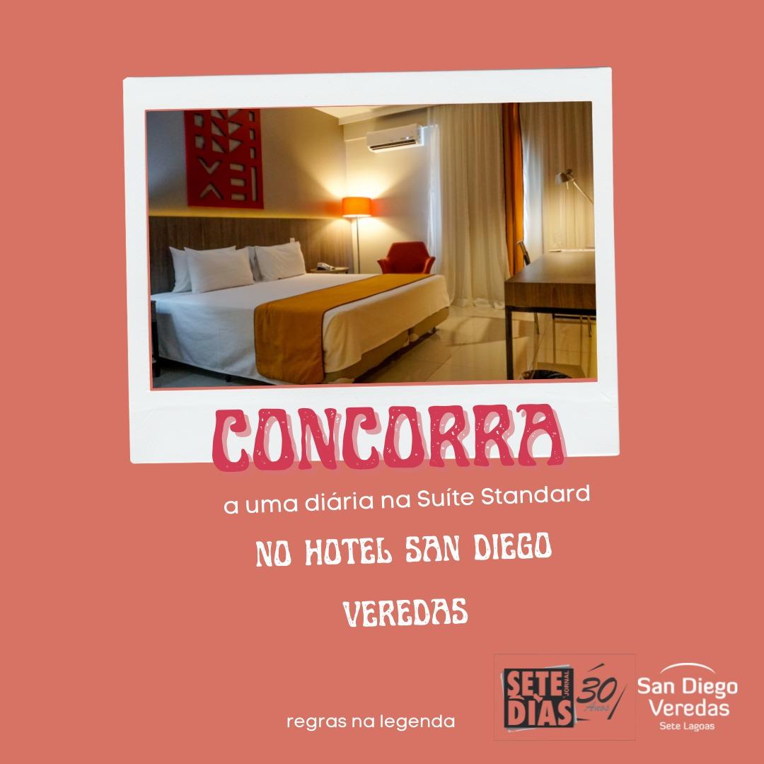 Hotel San Diego Vereadas, em parceria com o Sete Dias, sorteia diária para o Dia dos Namorados