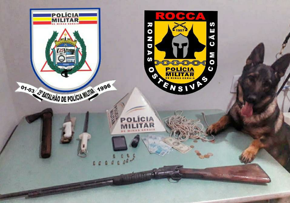 Suspeitos de roubar e abater rês são presos em Fazendinhas Pai José, região de Araçaí