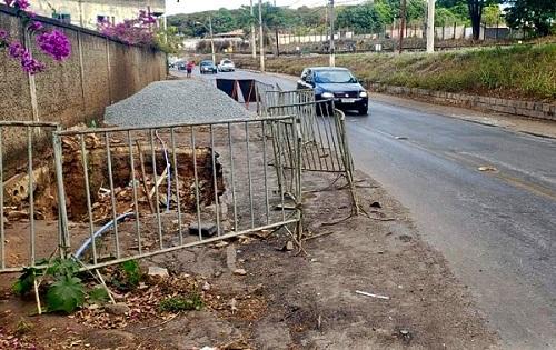 Trecho que passará por manutenção, em Prudente de Morais. Fotoi: DER/MG