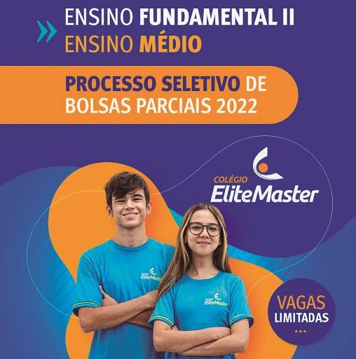 Colégio Elite Master abre inscrições para seleção de bolsas parciais