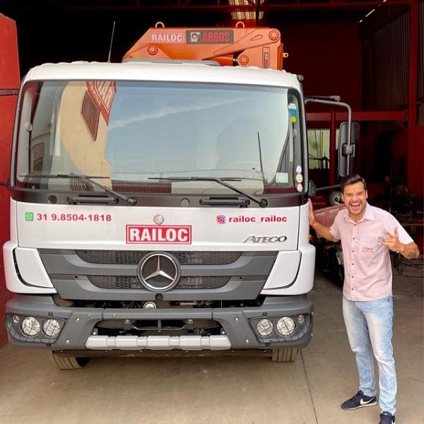 Railoc agora tem caminhão munck