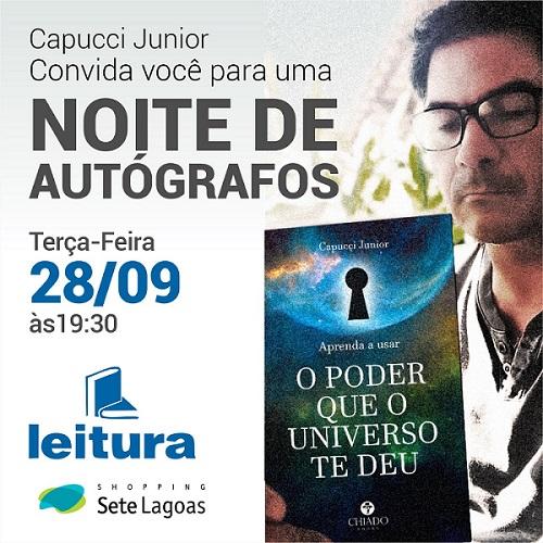 Capucci Junior lança livro nesta terça em noite de autógrafos no Shopping Sete Lagoas