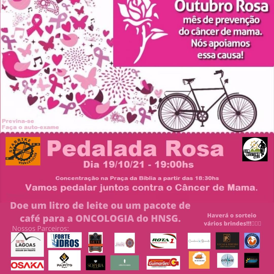 Pedalada Rosa reforça campanha de prevenção e diagnóstico precoce do câncer de mama