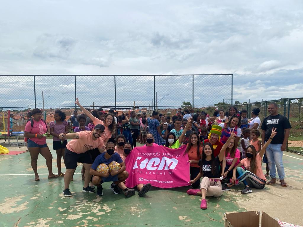 Projeto Correndo Para o Bem faz a alegria de centenas de crianças em Sete Lagoas
